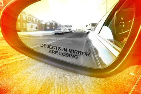 'Objects In Mirror Are Losing' Sticker