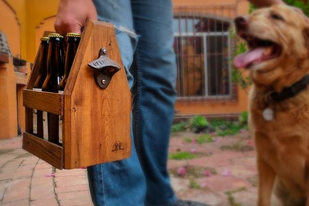 Personalized Wooden Beer Carrier