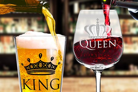 King Beer & Queen Wine Set