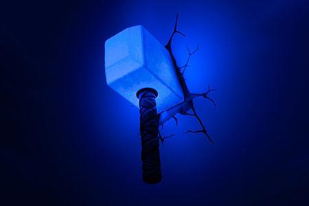 Thor Hammer Wall Light