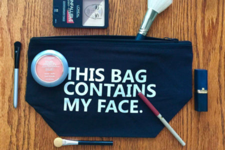 This Bag Contains My Face, Cosmetics Bag