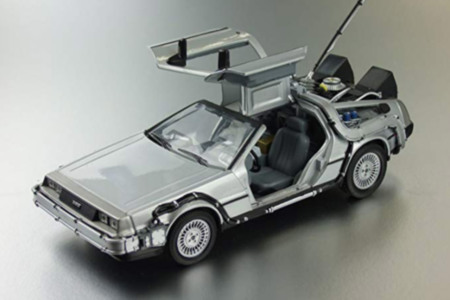 Diecast Metal Delorean
