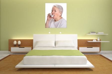 Woman With Asthma Mural