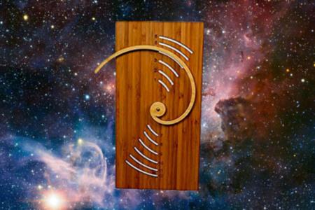 Cardboard Fibonacci Wall Clock