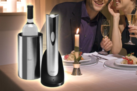 Rechargeable Cordless Wine Chiller and Opener