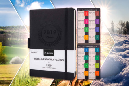 Annual Planner with Sticker Labels for 2019