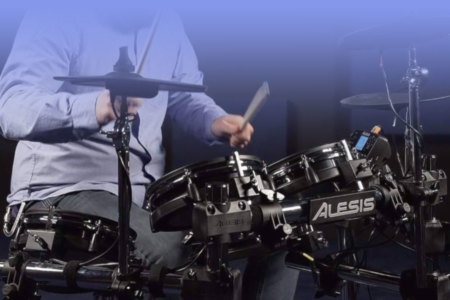 Electronic Drum Kit, Eight-Piece Set