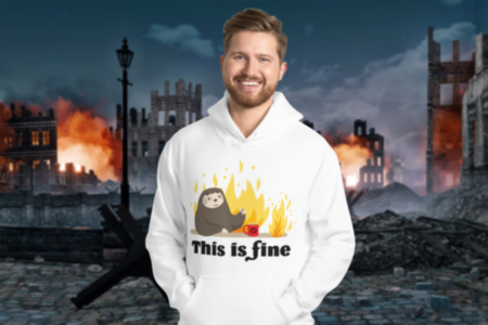 This Is Fine Hoodie