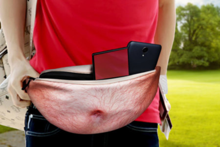 Dad Bod Beer Belly Fanny Pack