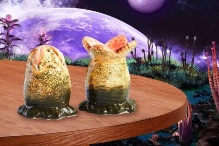 Alien Xenomorph Salt and Pepper Shakers